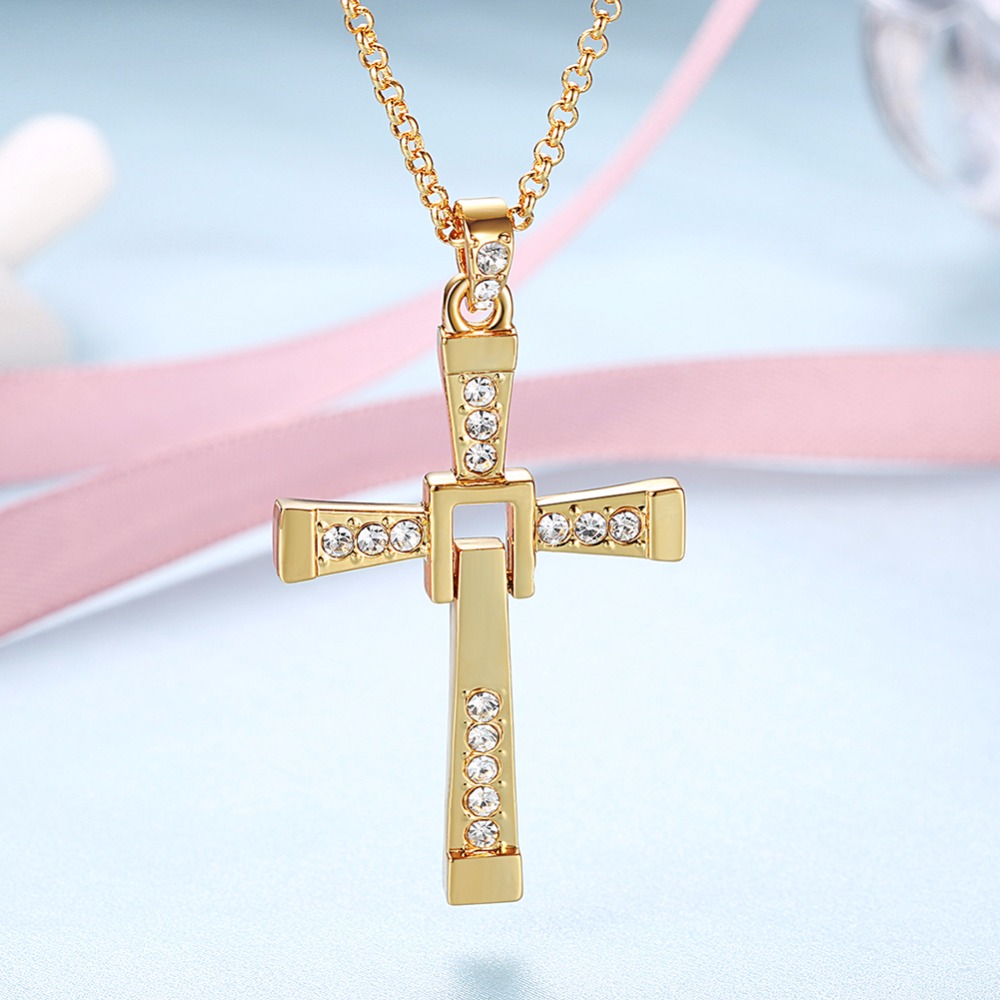 Authentic 925 sterling silver rose cross pendant for women sterling authentic 925 sterling silver rose cross pendant for women sterling silver jewelry collares platinum long chain crucifix jesus in necklaces from jewelry aloadofball Image collections