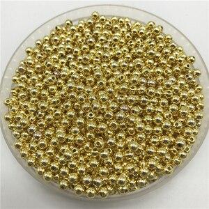 Круглые бусины с жемчугом, 4 мм, 200 шт.