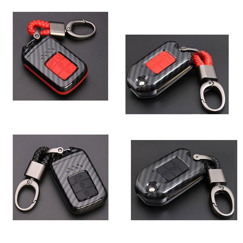 Caso clave para el coche cubierta de la llave de la fibra del carbón para Honda Accord Civic Crv Jade Urv Fit Xrv Avancier Vezel City crider coche clave cubierta