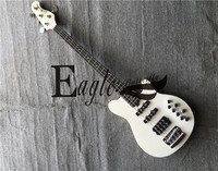 Eagle. Butterfly electric guitar, electric bass custom shop Music Four String Bass 22 White Goods in Stock