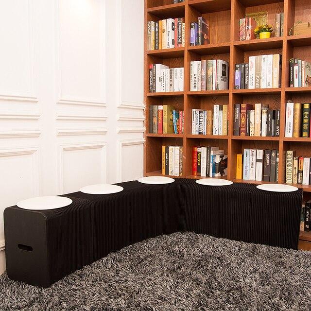 Ihpaper Nero Sgabello panca tavolo da Cucina soggiorno modern Living ...