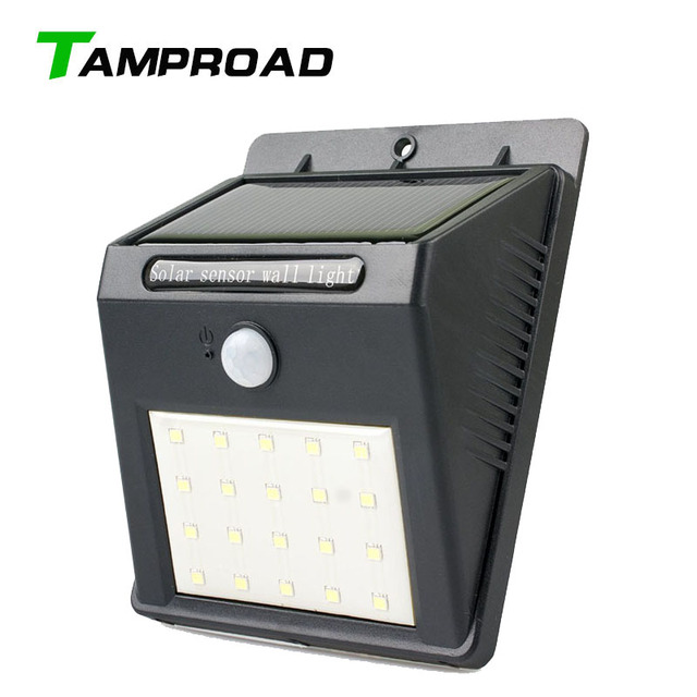 Tamproad 20 Led Solar Motion Sensor Light Wall Lamp Outdoor Lighting Waterproof Detector For Patio Garden