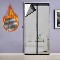 Black Tulle Curtain Mosquito Net Door Summer 2018 Automatic Closing Door Fly Bug Insect Mesh Magnetic