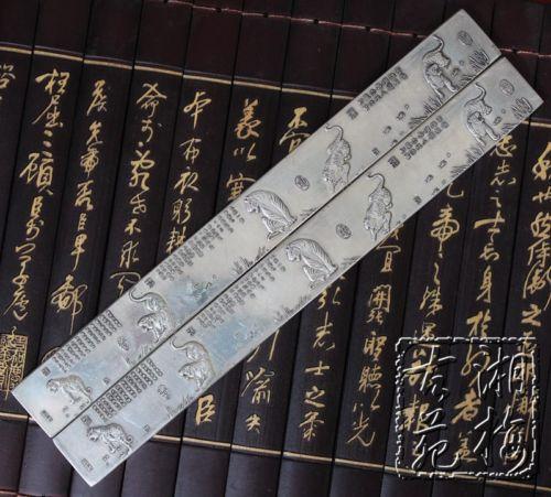 Vynikající čínská kolekce Antique Boutique Carving Five Tigers Paper weight