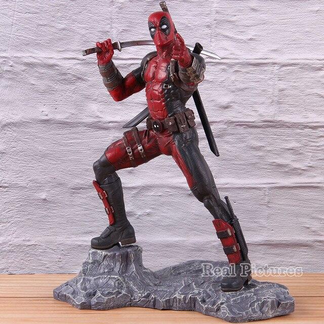 X Homem-Dead Pool Resina Estátua Ação Modelo Toy Collectible Figure Marvel X-MEN Deadpool PVC Boneca 26.5 centímetros