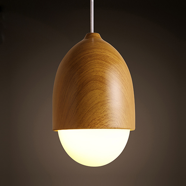 Fashion Japan Style Simple Modern Pendant Lamp Bedroom Counter Lamp  Creative Nut Shape Pendant Light