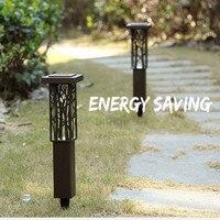 Açık Su Geçirmez LED Güneş Çim Lambaları Bahçe Park Otel Restoran Manzara Şehir Yeşil Dekoratif Oyma Kahve Yüzeyi Lamba