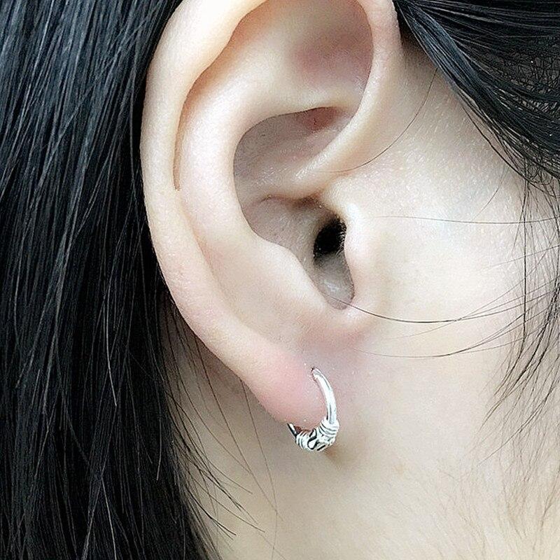 Mini Hoop Earrings Real 925 Sterling Silver Hoop Earrings for women girls  baby Earring Size 10mm a181bca08c50