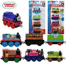 3-4pcs and friends trains hot tomas metal magnetic miniatura de carro diecast model kids jouets pour enfants gift