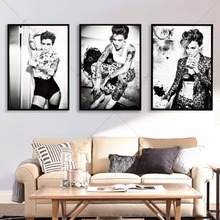 Ruby Rose Black And White Canvas Art Print Painting Poster Wall Pictures For Living Room Home Decorative Bedroom No Frame