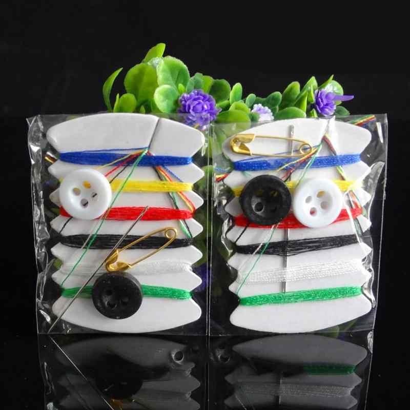 Простой путешествия мини набор для шитья швейные иглы Карманный Набор нить шить иглы для вышивания Kit кнопки комплектации инструменты квилтинга