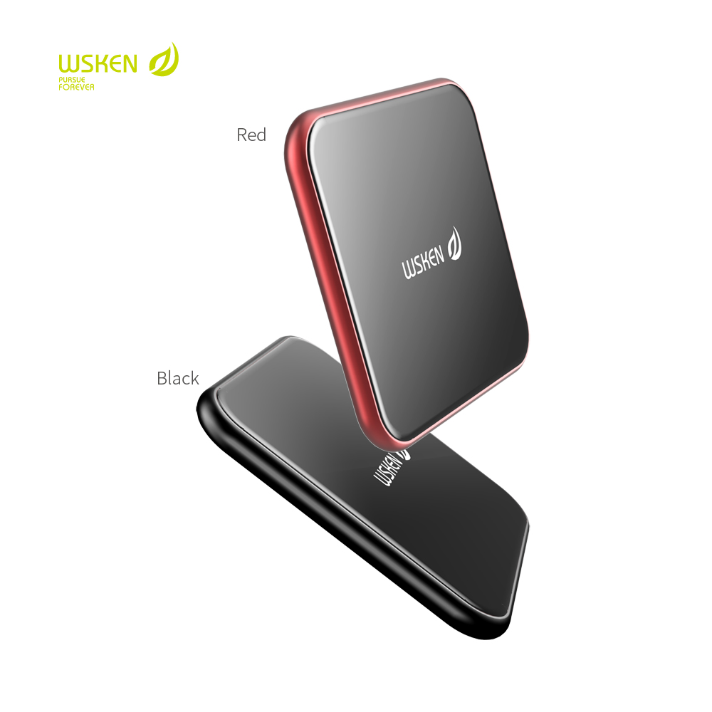WSKEN Qi Wireless Charger Fast Phone Charger For Samsung Galaxy S9 S8 S7 Note8 Wireless Charging For iPhoneX 7 7plus 8Plus