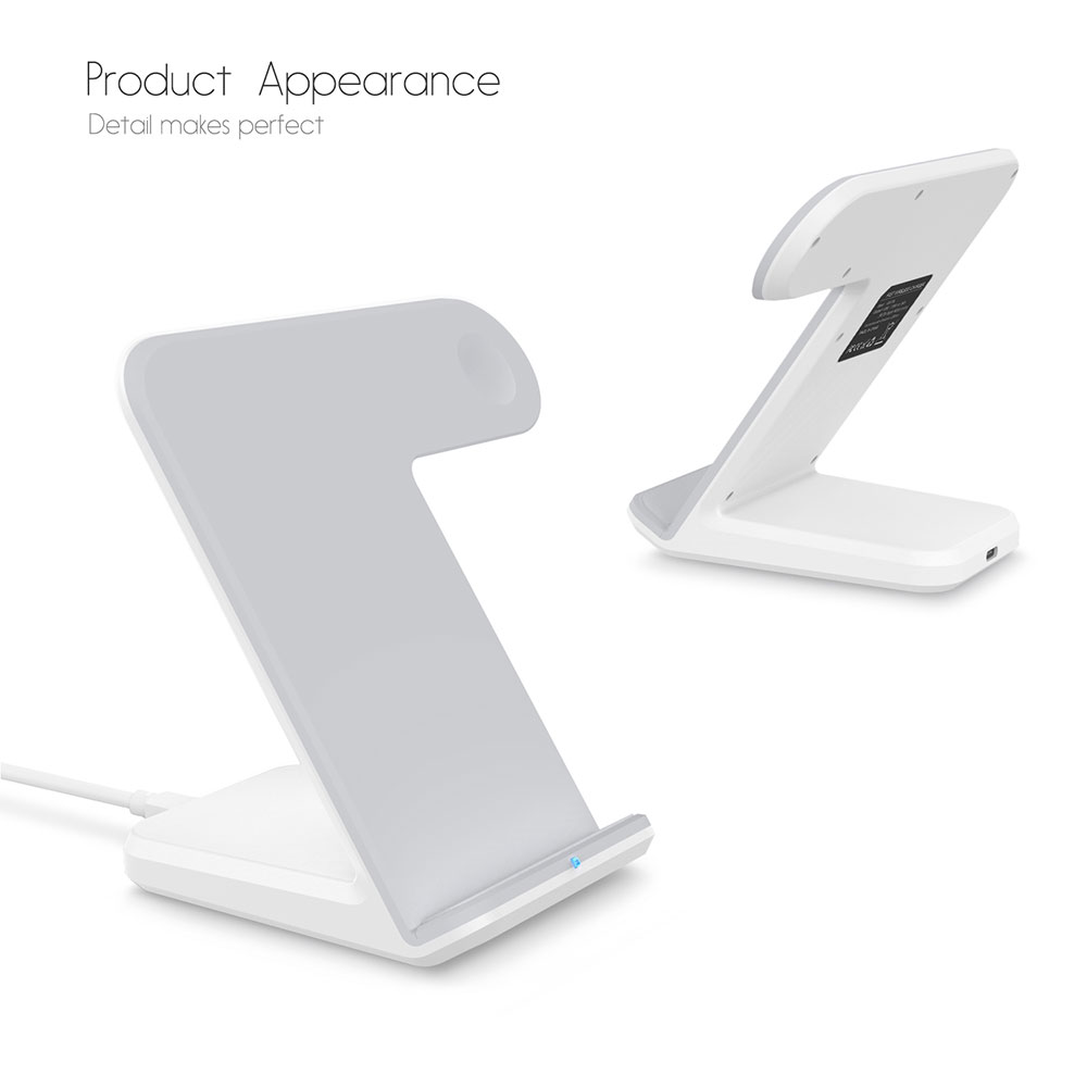 Image 3 - Portefeuille For Apple Watch 4 3 2 Charger Dock QI Wireless Charging Stand Holder For iPhone X 8 Plus XS Max XR 11 Pro 8plus-in Phone Holders & Stands from Cellphones & Telecommunications