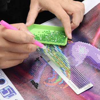 2019 NEW Diamond Drawing Ruler Dot Drill Tool Magic Tool Diamond Embroidery Mesh Ruler stitch Sewing Accessories Sewing Tools embroidery