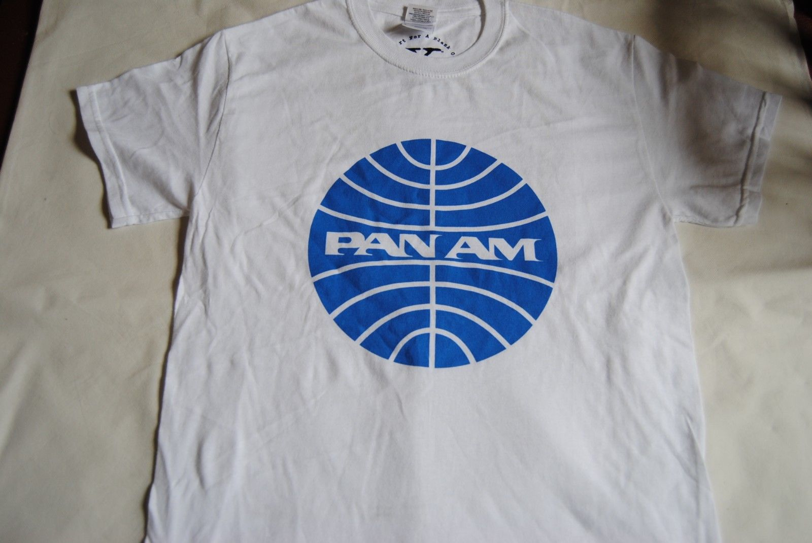 PAN AM LOGO T SHIRT NEW PAN AMERICAN WORLD AIRWAYS THE BLUE MEATBALL RETRO Print T-Shirts Men top tee Print Men T Shirt Summer