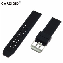 цены 23mm Silicone Rubber Lacunal Watch Accessories Watch band For LUMINOX Series Ventilate Straps Waterproof Submersible WatchBands