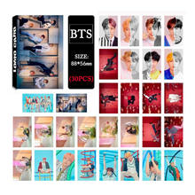 SGDOLL 2018 New Kpop BTS LOVE YOURSELF Answer Lomo Card Photo Suga Jimin Jungkook V 30pcs/set(China)