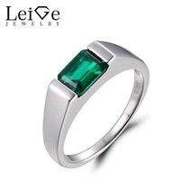 Бижутерия с изумрудом кольца для Изумрудное кольцо с зеленым камнем камень для родившихся в мае 925 пробы серебро простые кольца Подарки для