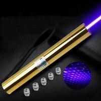 High powered Starke leistung militär blaue laser-pointer 100 watt 100000 mw 450nm brennendes streichholz/trockenes holz/kerze/schwarz/zigaretten + 5 caps