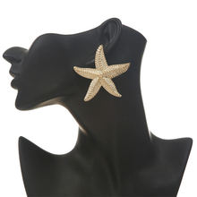 Big star earrings for women gold color vintage starfish stud earrings 2019 large earings