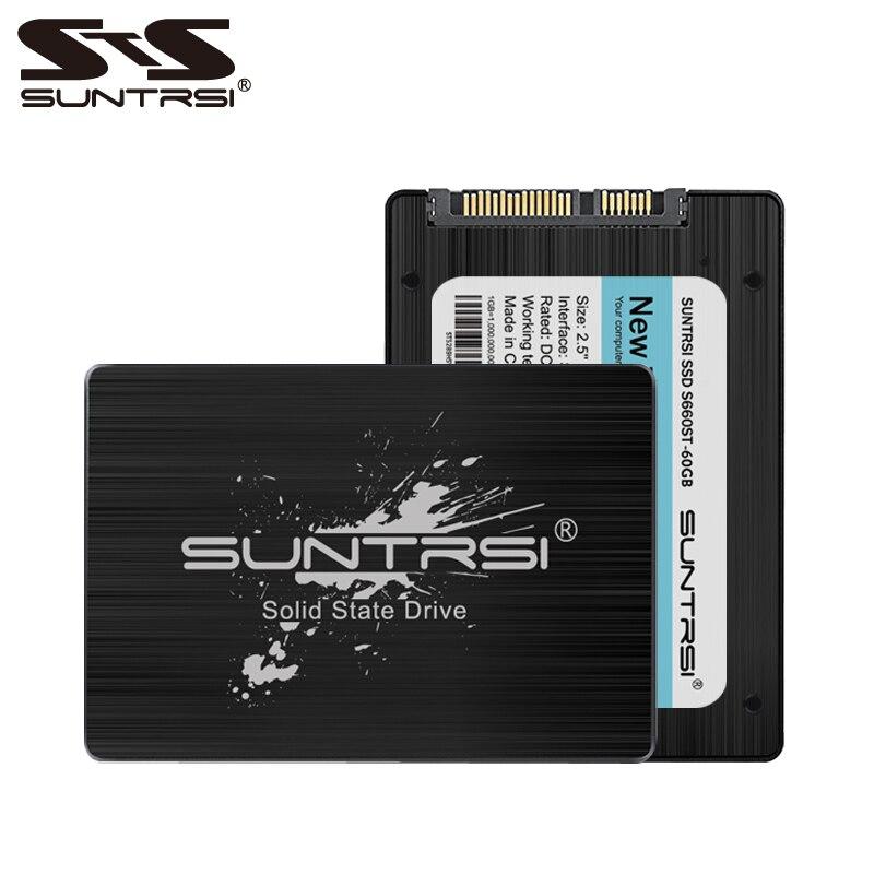 Suntrsi SATA3 SSD 240g Solid State Disk da 120g Ad Alta Velocità 60 gb 2.5 pollice Interno SSD nero per computer libero di trasporto