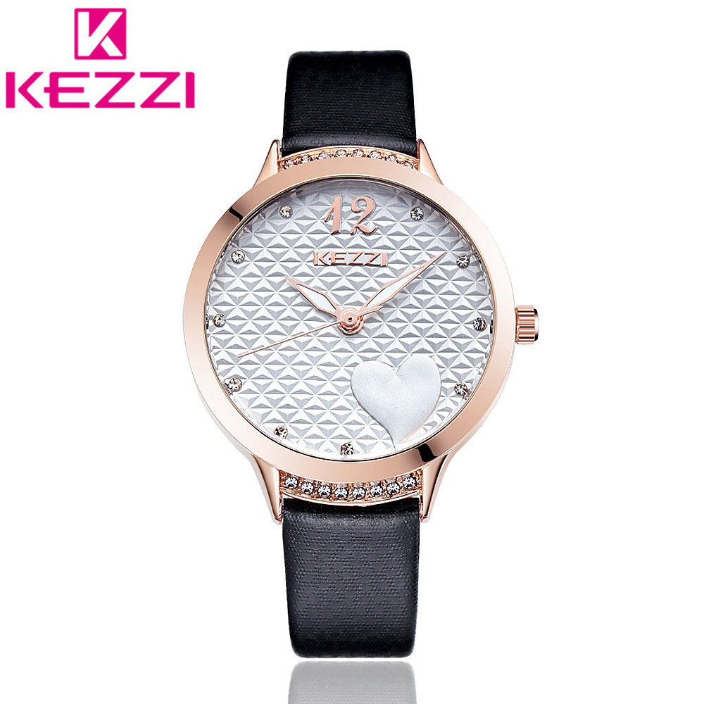 все цены на KEZZI K1361 Brand Fashion Women Rhinestone Watch Ladies Luxury Casual Quartz Watch Relogio Feminino Gift KZ108 онлайн