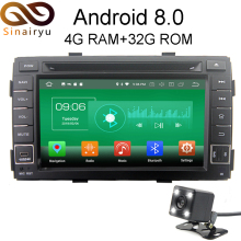 Sinairyu 4G RAM Android 8.0 Car DVD For Kia Sorento 2011 2012 Octa Core 32G ROM Radio GPS Player Head Unit