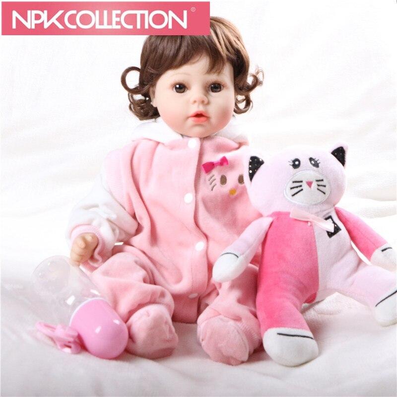 все цены на Cheap Dollar Victoria Adora Lifelike Baby Bonecas Bebe Kid Toy Cute Girl Silicone Reborn Baby Dolls & Stuffed Toys N27-28 онлайн