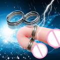 Double Penis Ring Testicle Balls Restraints Erection Aid Device Cockring(Inner-Diameter:33mm and 22mm)  F48