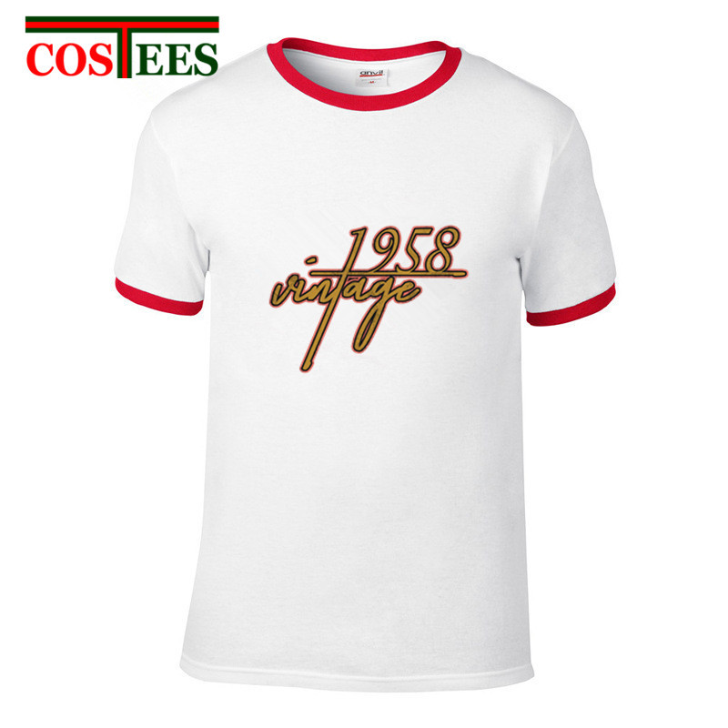 14d12b078a8bc 50s 60s clothing Vintage 1958 T Shirt 60th Birthday gift T-shirt Grandpa  Dad Best Present Tshirt Father's day Retro Hipster Tees