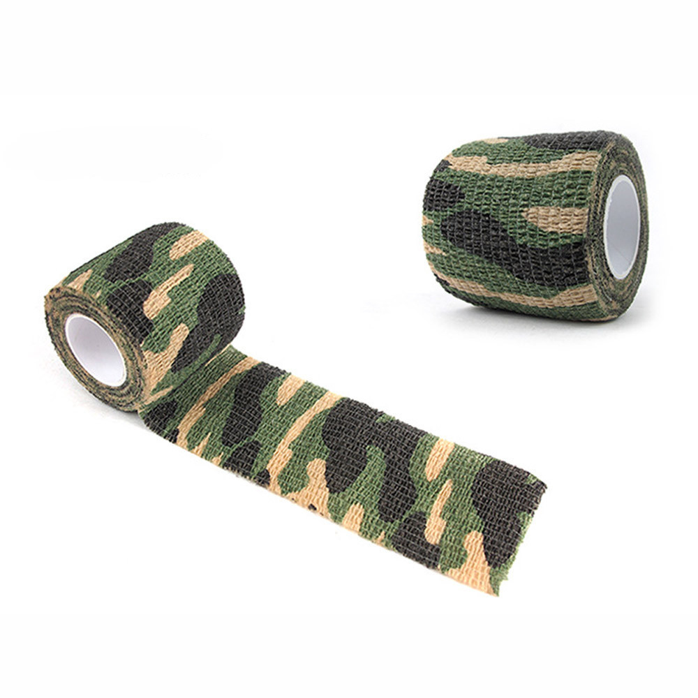 4.5M Camouflage Tape Bandage For Bicycle Flashlight Camping Hunting Wrap Multipurpose Mini Gadget Outdoor Survival #25