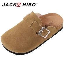 JACKSHIBO Summer Kid Slipper Breathable Sandals Flip Flop New Style Kids Slip-on Children Close Toe Shoes Slides Flats