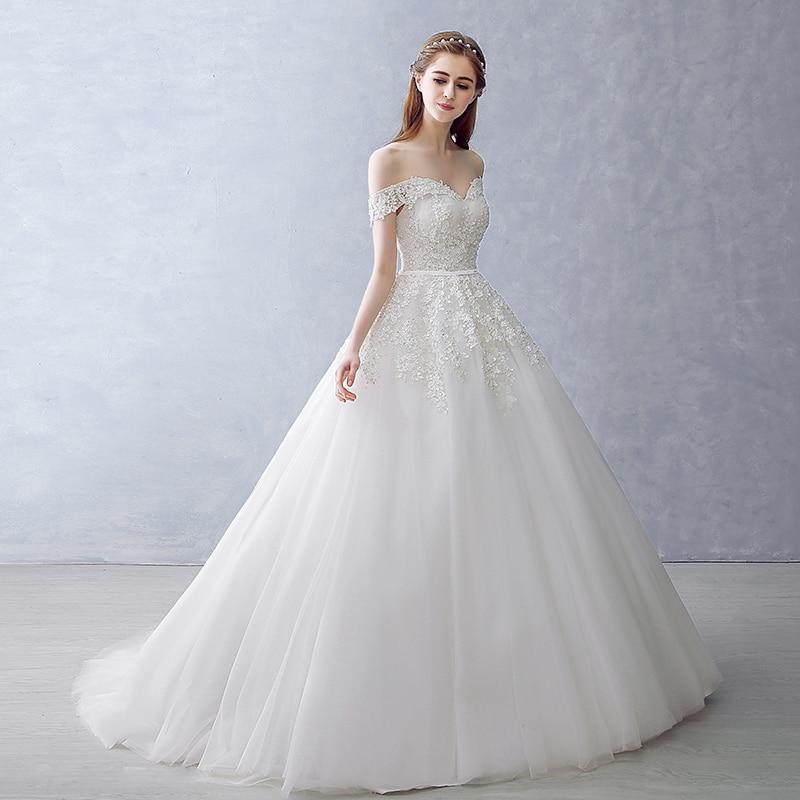 2018 Bollkjole Brudklänning Vintage Muslim Plus Storlek Snörning - Bröllopsklänningar - Foto 6