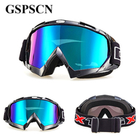 GSPSCN Motorcycle Motocross Goggles Glasses for Helmet Racing Gafas Dirt Bike ATV MX Goggles Clear Tinted Lens Off Road