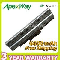 Apexway 6600 mah 11.1 v batería del ordenador portátil para sony bps13 plata bps21 vgp-bpl13 vgp-bpl21 para sony vaio pcg serie sve vpc-f vpc-m