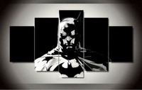 5 Piecesset Modern Printed Batman Painting On Canvas Room Decoration Print Picture Canvas Wall Art Modular