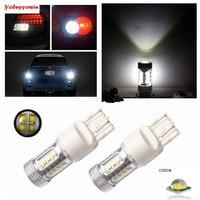 2x High Power 80W CREE T20 7443 7444 W21 5W LED Bulbs For Car Reverse Lights