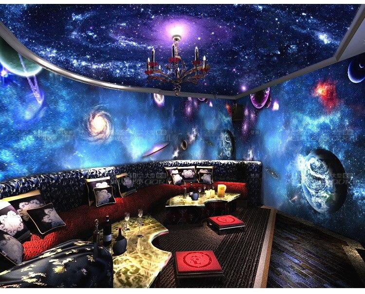 Plafond étoilé univers 3D papier peint chambre papier peint toile ...