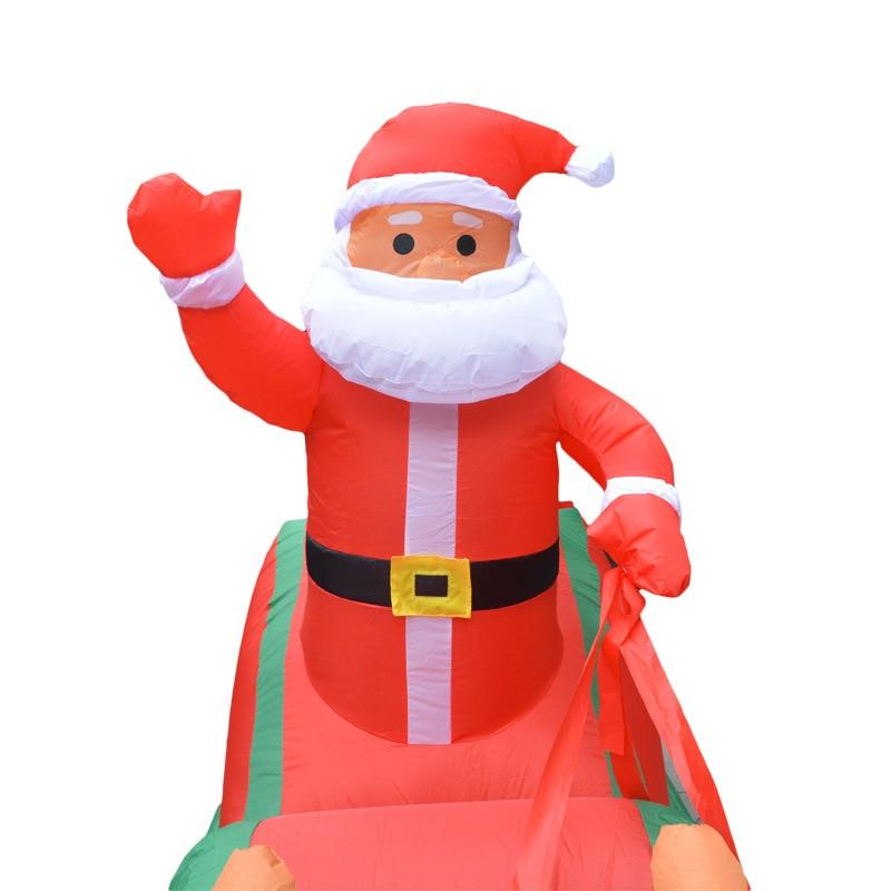 2,2 м Рождественский надувной Декор светодиодный светильник Santa S светодиодный в форме куклы вечерние украшения Рождественский прекрасный с... - 4