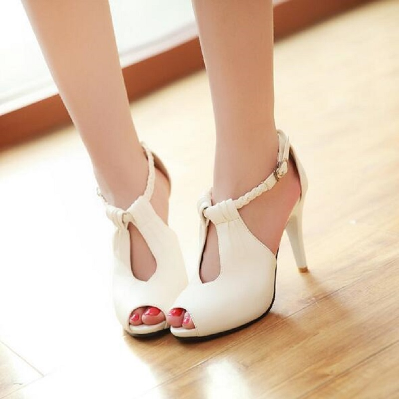 26.1~26.5cm Plus Size 43 New 2017 Arrival Hot Sale Fashion Office Summer Women Pumps High Heel Sandals Casual Women Shoes White size 30 43 woman ankle strap high heel sandals new arrival hot sale fashion office summer women casual women shoes p19266