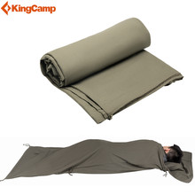 KingCamp Outdoor Camping Envelope Sleeping Bag Liner for Travel, Camping - Compact,cotton,soft Touching