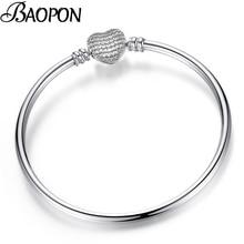 BAOPON, хрустальный браслет в форме сердца, браслеты для женщин и девочек, изящные браслеты, браслеты для женщин, сделай сам, ювелирное изделие, Прямая поставка