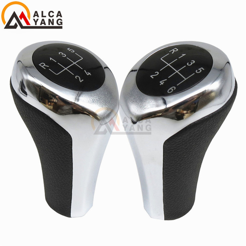 New 5 6 Speed Manual MT Gear Stick Shift Knob For BMW 1 3 5 6 Series X1 X3 X5 E60 E61 E62 E63 E81 E82 E83 E85 E87 E88 E90 E91