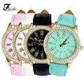 Feida Ginebra Reloj montre femme de marque 2016 Romano Señoras Reloj de Cuarzo Relojes Relojes de Moda Reloj de Pulsera con Diamantes de Imitación