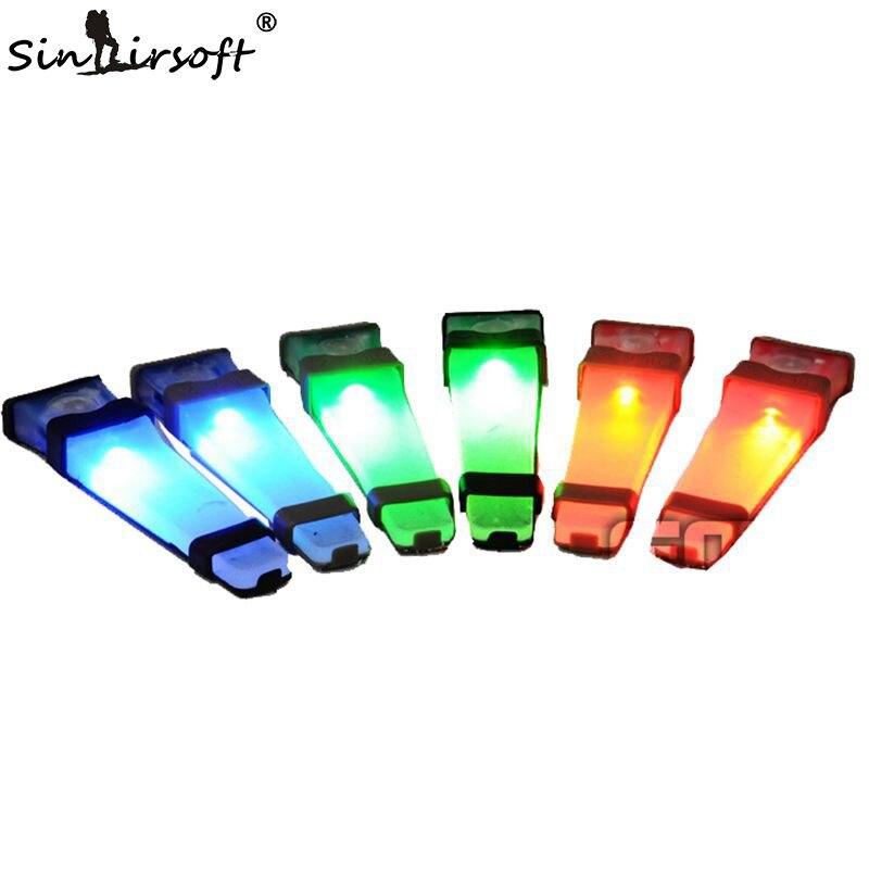 Prix pour Sinairsoft FMA Airsoft V-Lite Sécurité LED Signal Flash Light avec Magic Tape Soutenu Tactique Casque Survie Casque Lumières