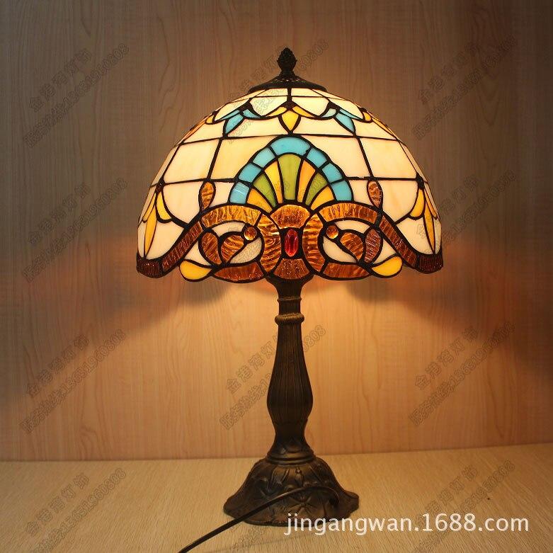 , Настольная лампа Тиффани ночники витражи прекрасный спальня причал лампы Смолы контракт Искусство настольная лампа