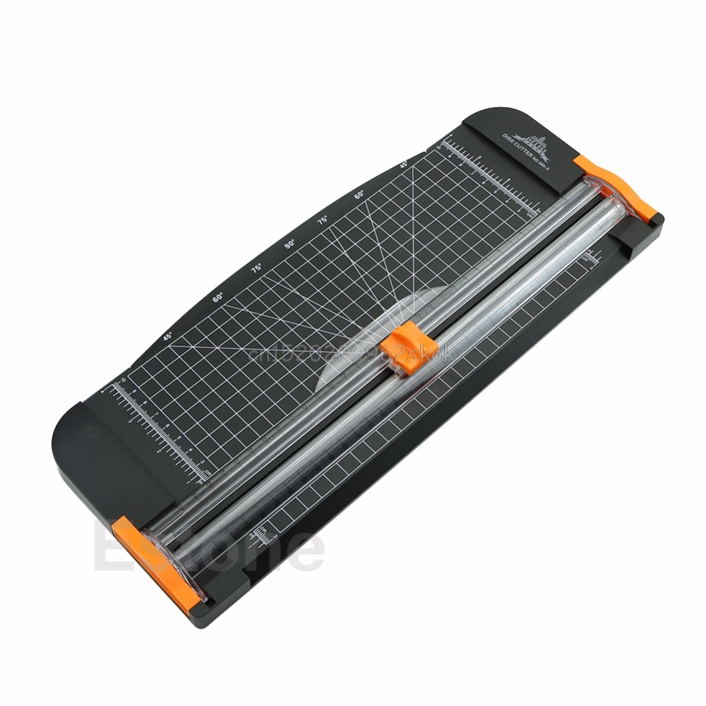 Papier Cutter Trimmer Jielisi 909-5 A4 Guillotine Lineal Papier Cutter Trimmer Cutter Schwarz-Orange # H029 #