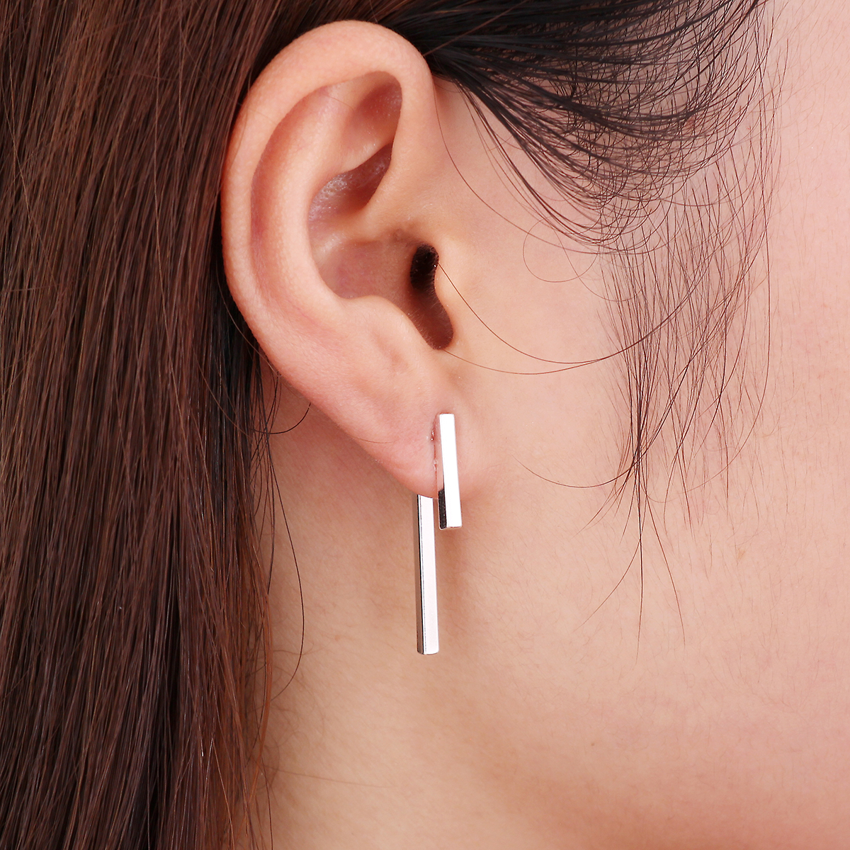 Jisensp Summer Style Punk Fashion Simple T Bar Pendientes chaqueta para mujeres regalos de boda boucle d'oreille femme ED140