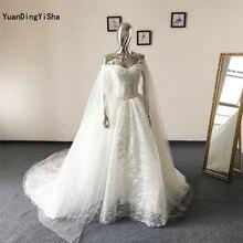 YuanDingYiSha A-Line Wedding Dress Sleeveless Royal Train