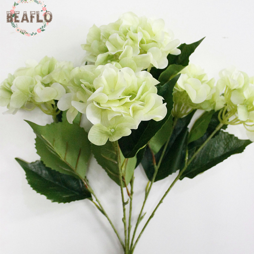 1bunch 5 heads silicone snowball hydrangea bouquet artificial flower 1bunch 5 heads silicone snowball hydrangea bouquet artificial flower wedding home decorative floristry 4 colors in artificial dried flowers from home mightylinksfo